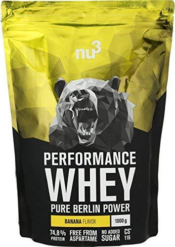nu3 Performance Whey Protein – Chocolate Blend 1 kg Proteinpulver – Eiweißpulver mit guter Löslichkeit – 22,5 g Eiweiß…