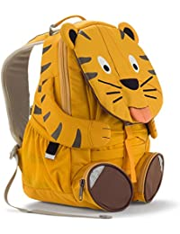 Affenzahn Kinder-Rucksack mit Brustgurt für 3-5 jährige Jungen und Mädchen im Kindergarten und Kita der große Freund Theo Tiger - Gelb