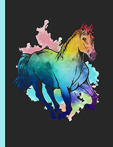 Running Horse Watercolor Notebook: Journal for School Teachers Students Offices - Dot Grid, 200 Pages (8.5