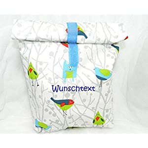 Lunchbag Lunchbox Brotbeutel personalisierbar