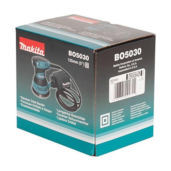 Makita BO5030 BO5030-Lijadora Rotorbital 125Mm 300W, 300 W, 240 V, Multicolor