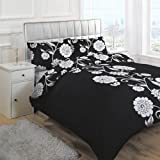 Linens Limited Helena Duvet Cover Set, Black, Double