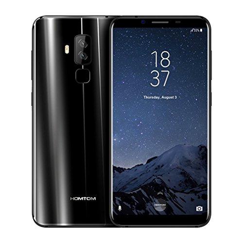 Smartphone Libre, HOMTOM S8 4G Móviles de 5.7'' HD IPS Android 7.0 (Dual Cámara 21MP + 16MP 4GB RAM 64GM ROM Con 3400mAh Batería MTK6750T 1.5Ghz Quad Core Huella Datilar Dual Sim)