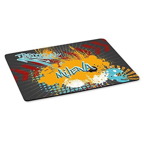 Gaming-Mousepad mit Namen Milena und schönem Graffiti-Motiv - Gamer-Mousepad | Mausmatte | Mauspad