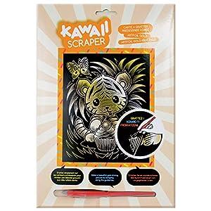 Mammut 61623-Art Foil Silver Kawaii Gato, Aprox. 25,5x 20,4cm
