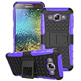 Samsung Galaxy E5 Hülle Schwarz,Samsung Galaxy E5 Hülle Flip Case,Samsung Galaxy E5 Hülle Silikon,EMAXELERS Samsung Galaxy E5 Hülle TPU,Galaxy E5 Hülle Hart,Galaxy E5 Hülle Slim Protective schutz Design Secure sicher Non-Slip Grip griff einzigartige Unique Hybrid weich Soft & Hard Shockproof Protection Hülle Cover for Samsung Galaxy E5,Purple Tire Pattern