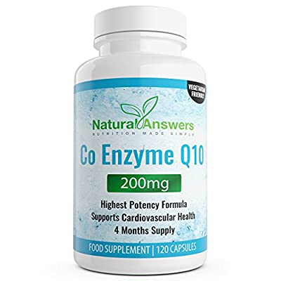 CoQ10 200 mg Co Enzyme Q10 CoQ10 120 coenzyme q10 Capsules - 4 Months Supply of coq10 tablets enzyme from Natural Answers