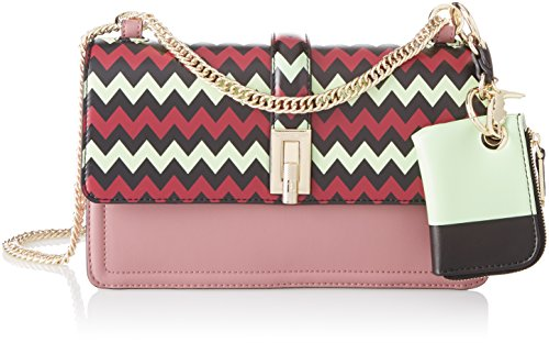 Trussardi Jeans Damen Holly Smooth Clutch, (Old Pink), 26.5x16x9 Centimeters