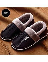 5fad686f0eada YMFIE Pantofole in Cotone Invernale Uomo e Donna casa Caldo Coperta  Antiscivolo Impermeabile PU Scarpe di