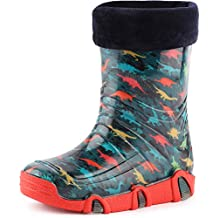 b7a4b7306e Ladeheid Botas de Agua Zapatos de Seguridad Calzado Unisex Niños Swk