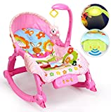 Best For Kids L319 Schaukelsitz Wunderwelt 3-in-1 mit Massagefunktion und Musikfunktion pink
