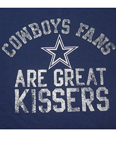 Pink Victoria's Secret Femmes NFL Dallas Cowboys V-Neck T-shirt Bleu