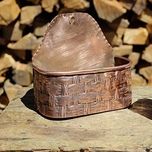 Handmade Copper Basket : Handmade copper wall basket