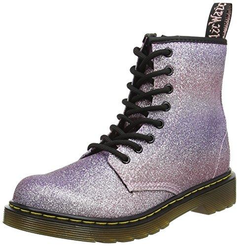 Dr. Martens Unisex Kids' Delaney Gltr Pink Multi Glitter Pu Boots, Pink...