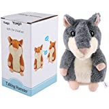 Yoego Cute Mimicry Pet Talking Hamster Repeats What You Say Plush Animal Toy Electronic Hamster Mouse For Boy And Girl Gift