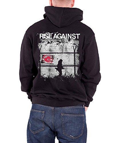Rise Against -  Felpa con cappuccio  - Maniche lunghe  - Uomo nero Large