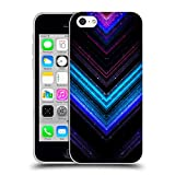 Head Case Designs Offizielle PLdesign Blau Und Purpurrot Glitzerndes Metall Soft Gel Hülle für iPhone 5c