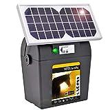 VOSS.farming Weidezaungerät mit Solar inkl. Batterie und Zubehör für Ihren Weidezaun Elektrozaun Mobil