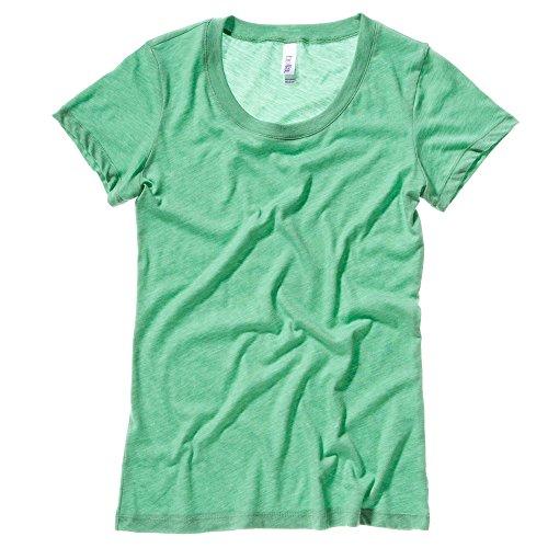 Bella+Canvas Tri-blend crew neck t-shirt Green Triblend