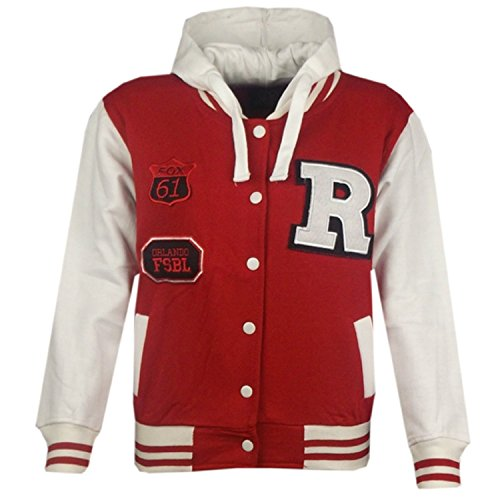 MyMixTrendz- Women Baseball Varsity Hooded Bomber Jacket With Pockets & Snap Fasteners Closure Plus Size Top Jacket