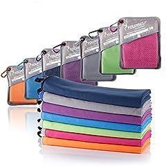 Idea Regalo - Syourself microfibra sport e viaggi towel-M: 100cm x 50cm – asciugatura rapida, leggero, assorbente, morbido – perfetto per yoga fitness da spiaggia campeggio+borsa da viaggio e moschettone(Hot pink)