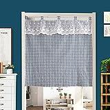 YHviking Japanische Vorhang,Halber Vorhang,Dekorative Tapeten,Tür-raumteiler,Einfach Zu Waschen Verhindern, Dass Sonnenlicht Für Wohnzimmer Eingang Balkontür-A 85x150cm(33x59inch)