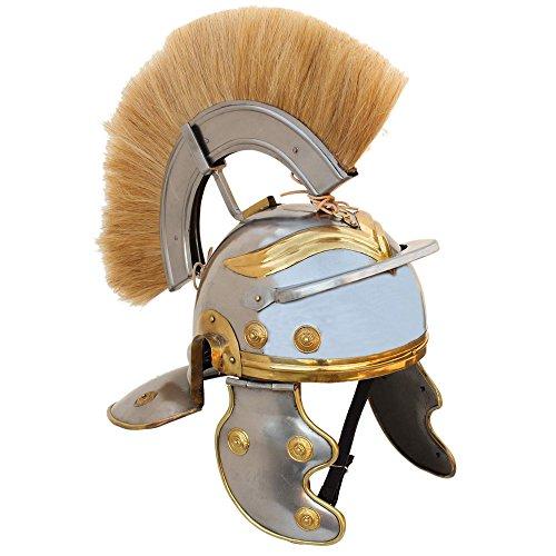 Imperial Roman Centurion Helm mit Blond Plume