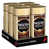 NESCAFÉ Gold Original, löslicher Bohnenkaffee aus erlesenen Kaffeebohnen, koffeinhaltig, vollmundig & aromatisch, Menge: 6er Pack (6 x 200 g)