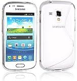 Voguecase TPU Silicone Shell Housse Coque Étui Case Cover Pour Samsung S7582 Galaxy S DuoS 2 Samsung Galaxy S Duos S7562 (S-line Transparent) +Gratuit stylet l'écran aléatoire universelle