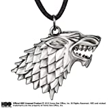 Noble Collection Stark Escudo Colgante Cordon Cuero Game of Thrones, NOBGOTN0085
