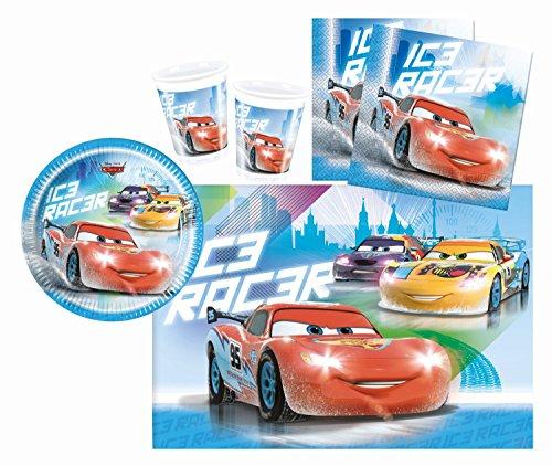 Preisvergleich Produktbild Procos 10108554B - Kinderpartyset - Disney Cars - Ice Racers, Größe S, 37-teilig