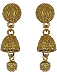 Arafa Jewellers Babubali Golden Bali With Jhumka Earrings For Women/Girls/attractive Look/latest Design/gold Plated