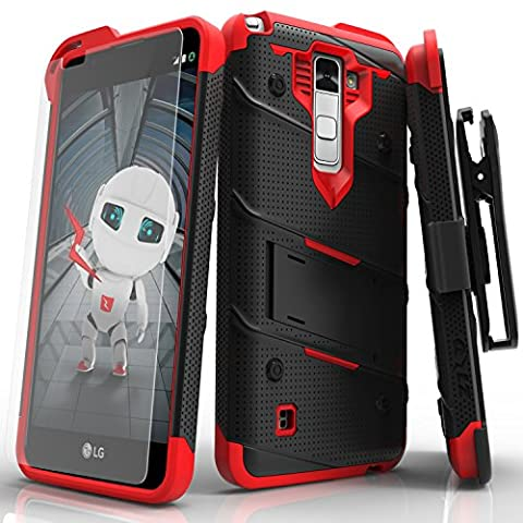 LG Stylo 2Coque, Zizo [Bolt Série] avec gratuit [LG Stylo 2Protection d'écran] Béquille [Test de chute de qualité militaire] Holster ceinture Clip LG Stylo 2Ls775