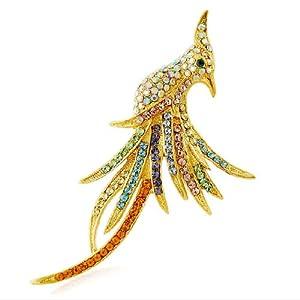Glamorousky Elegant Phoenix Brosche Mit Multi-Color- Austrian Elements -Kristallen (4911)