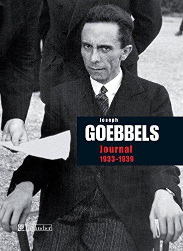 Journal de Joseph Goebbels 1933-1939 (Archives contemporaines) par Jospeh Goebbels
