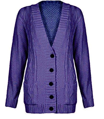 Cavo corda saffico thuppaki-modello-nonno con V-taglio carminda pottone - 36/38 - disponibile in diversi colori, 40,42 Viola