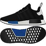 adidas Damen NMD_r1 Primeknit Sneaker, Schwarz - Black, Black, White, Blue - Größe: 41 EU M