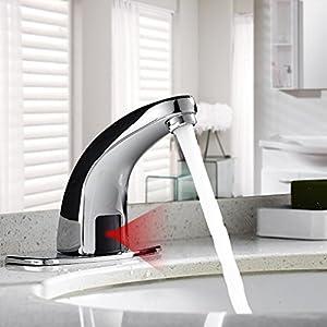 AuraLum Grifo Lavabo Sensor Automático, Sin-contacto Grifo con Sensor Movimiento para Cuenca de Baño Commercial/Doméstico