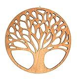 Baum des Lebens Bild aus Holz | Holzbild | Variante 1 | Wandbild | Lebensbaum | verschiedene Größen und Farben | Ø 44cm, 55cm, 66cm, 77cm, 88cm