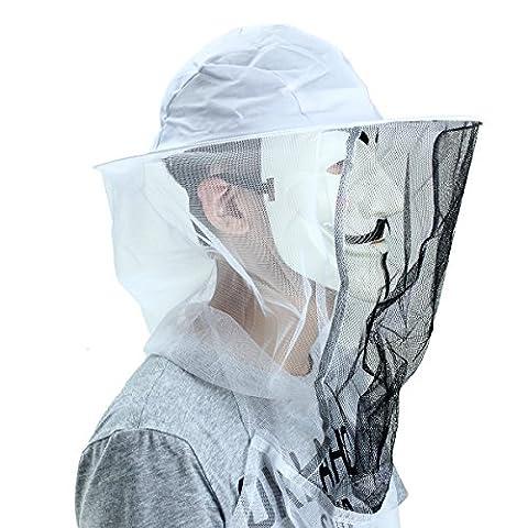 MASUNN Beekessers Net Veil Mask Bee Mosquito Bug Fish Hat Head Face Protector Cap