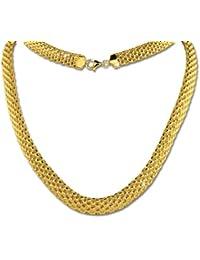 SilberDream Halskette - Collier Geflecht Gelbgold vergoldet - Länge 45cm aus 925er Sterling Silber und 333er Gold - SDK22045Y