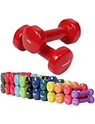 Vinyl Hanteln Gymnastikhanteln Ideal für Aerobic Pilates 0,5 kg – 10 kg | Kurzhantel Set in versch. Farben