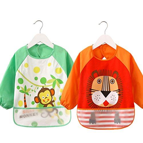 bebe-lactancia-alimentacion-baberos-bebe-babero-impermeable-para-bebe-orange-lions-green-monkey