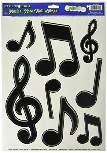 Musicale note di musica chiave di violino gioco camera muro finestra adesivi educativo