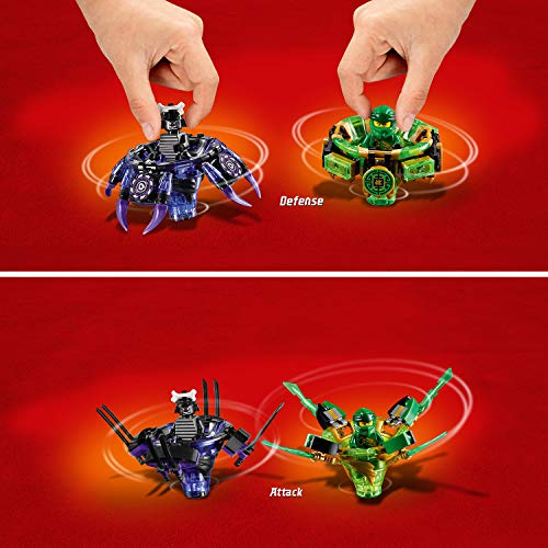 LEGO- Toupies Spinjitzu Lloyd vs Garmadon Ninjago Jeux de Construction, 70664, Multicolore