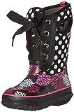 Bogs Casey Pompons Dots Winter Snow Boot (Toddler/Little Kid/Big Kid), Black/Multi, 2 M US Little Kid