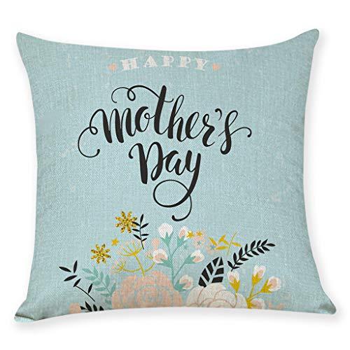 erthome Home Decor Kissenbezug Happy Muttertag Kissenbezug Kissenbezüge (45cm x 45cm, B)