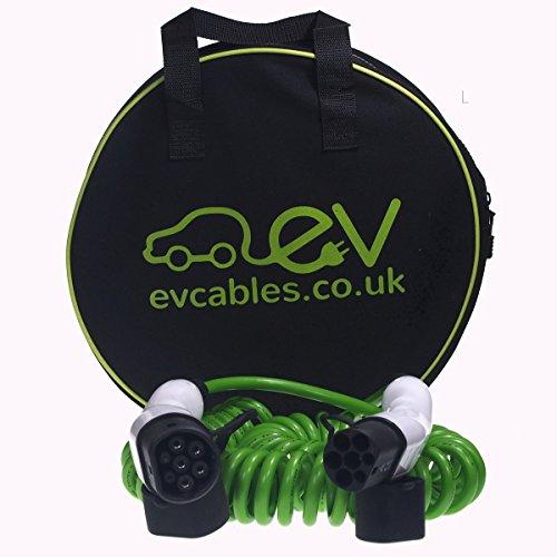 EV Cables CHC001-S(8M) Cavo di Ricarica per Le Auto Elettriche a Spirale con Il Sacchetto, 16A, 8M