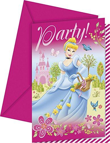 6 cartes d'invitation Princesse Summer Palace™