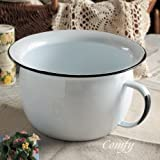 Stylish and Cute Kitchen Accessories Nordic Country Popularity Of Antique Enamel Homestead Chamber Pot by Homestead